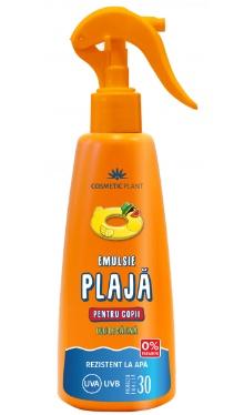 Emulsie plajă rezistentă la apă pentru copii - SPF 30 - Cosmetic Plant