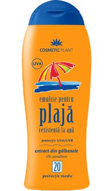 Emulsie plajă rezistentă la apă SPF 20 cu gălbenele - Cosmetic Plant