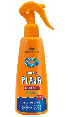 Emulsie plajă rezistentă la apă pentru copii - SPF 50 - Cosmetic Plant