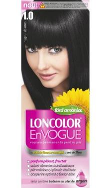 Vopsea de păr EnVogue 1.0 Negru Albăstrui - Loncolor