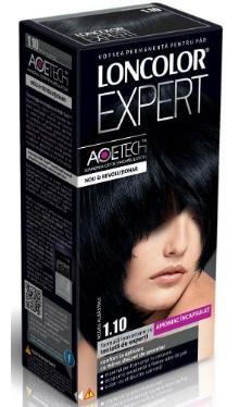 Vopsea de păr Expert 1.10 Negru Albăstrui - Loncolor