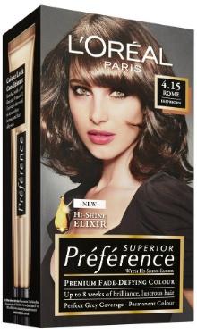 Vopsea de păr Preference Castaniu Intens 4.15 - L'Oreal