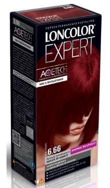 Vopsea de păr Expert 6.66 Roșu Mediu - Loncolor