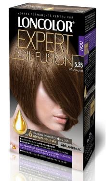 Vopsea de păr Expert Oil Fusion 5.35 Șaten Auriu - Loncolor