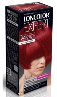 Vopsea de păr Expert 7.66 Roșu Deschis - Loncolor