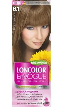 Vopsea de păr EnVogue 6.1 Blond Cenușiu Închis - Loncolor