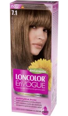 Vopsea de păr EnVogue 7.1 Blond Cenușiu - Loncolor