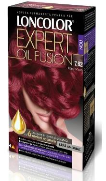 Vopsea de păr Expert Oil Fusion 7.62 Roșu Intens - Loncolor