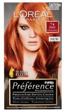 Vopsea de păr Preference Arămiu Intens 74 - L'Oreal