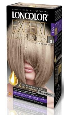 Vopsea de păr Expert Oil Fusion 8.1 Blond Cenușiu Deschis - Loncolor