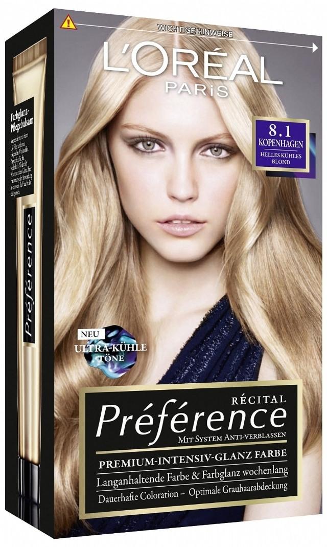 Vopsea de păr Preference Blond Deschis Cenuşiu 8.1 - L'Oreal