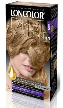 Vopsea de păr Expert Oil Fusion 8.71 Blond Bej - Loncolor
