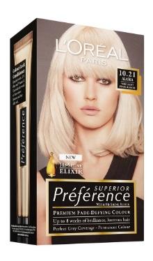 Vopsea de păr Preference Blond Foarte Deschis Perlat 10.21 - L'Oreal