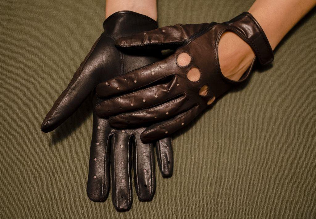 Mănuși din piele dame auto AFAuto1001