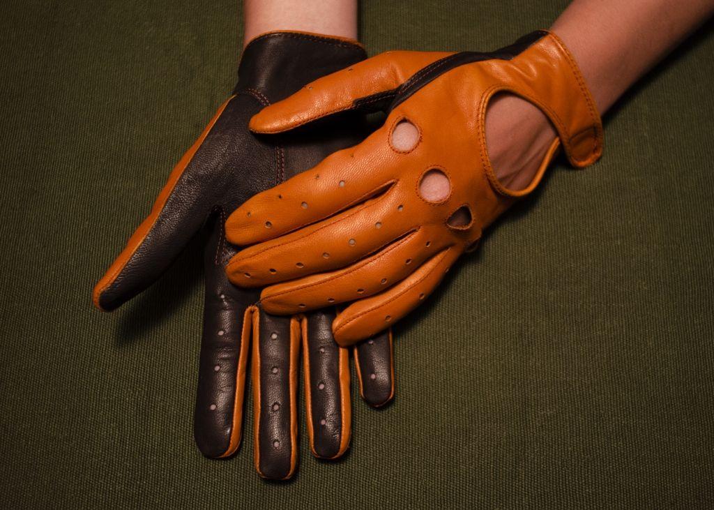 Mănuși din piele dame auto AFAuto411