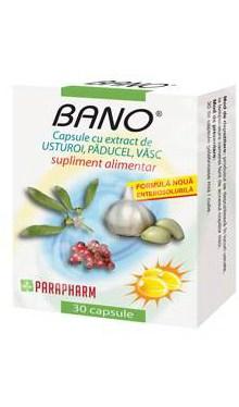 Bano capsule cu extract de usturoi, păducel, vâsc - Parapharm