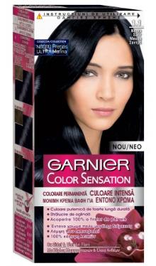 Vopsea de păr Color Sensation 1.1 Negru Safir - Garnier