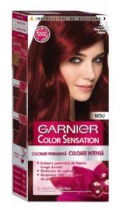 Vopsea de păr Color Sensation 4.60 Roşu Închis Intens - Garnier
