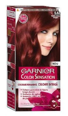 Vopsea de păr Color Sensation 5.62 Vișiniu Intens Preţios - Garnier