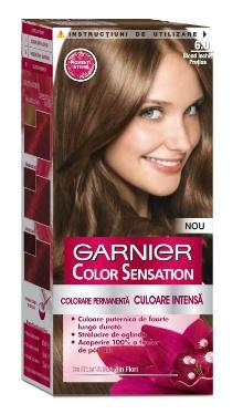 Vopsea de păr Color Sensation 6.0 Blond Închis Preţios - Garnier