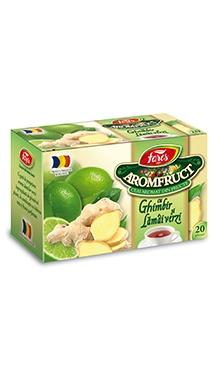 Ceai aromfruct, cu ghimbir și lămâi verzi doze - Fares