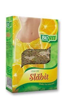 Ceai de slabit cu lămâie vrac - Biovit