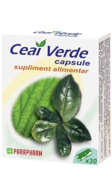 Ceai verde, capsule - Parapharm