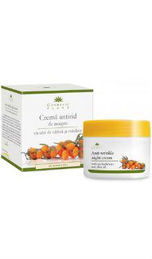 Cremă antirid de noapte cu ulei de cătină și măsline - Cosmetic Plant