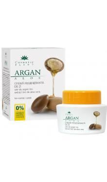 Cremă regenerantă de zi cu ulei de argan și aloe vera - Cosmetic Plant