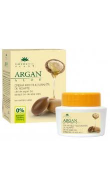 Cremă restructurantă de noapte cu ulei de argan si aloe vera - Cosmetic plant