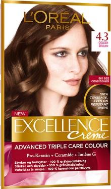 Vopsea de păr Excellence Creme 4.3 - L'Oreal