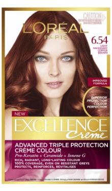 Vopsea de păr Excellence Creme 6.54 - L'Oreal