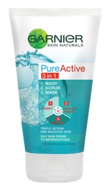 Gel de curățare PureActive 3in1 - Garnier
