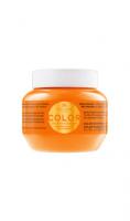 Kallos KJMN Color mască de păr cu ulei de seminţe de in şi filtru UV