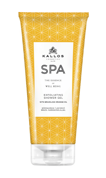 Kallos Spa gel de duș exfoliant cu ulei de portocale din Brazilia