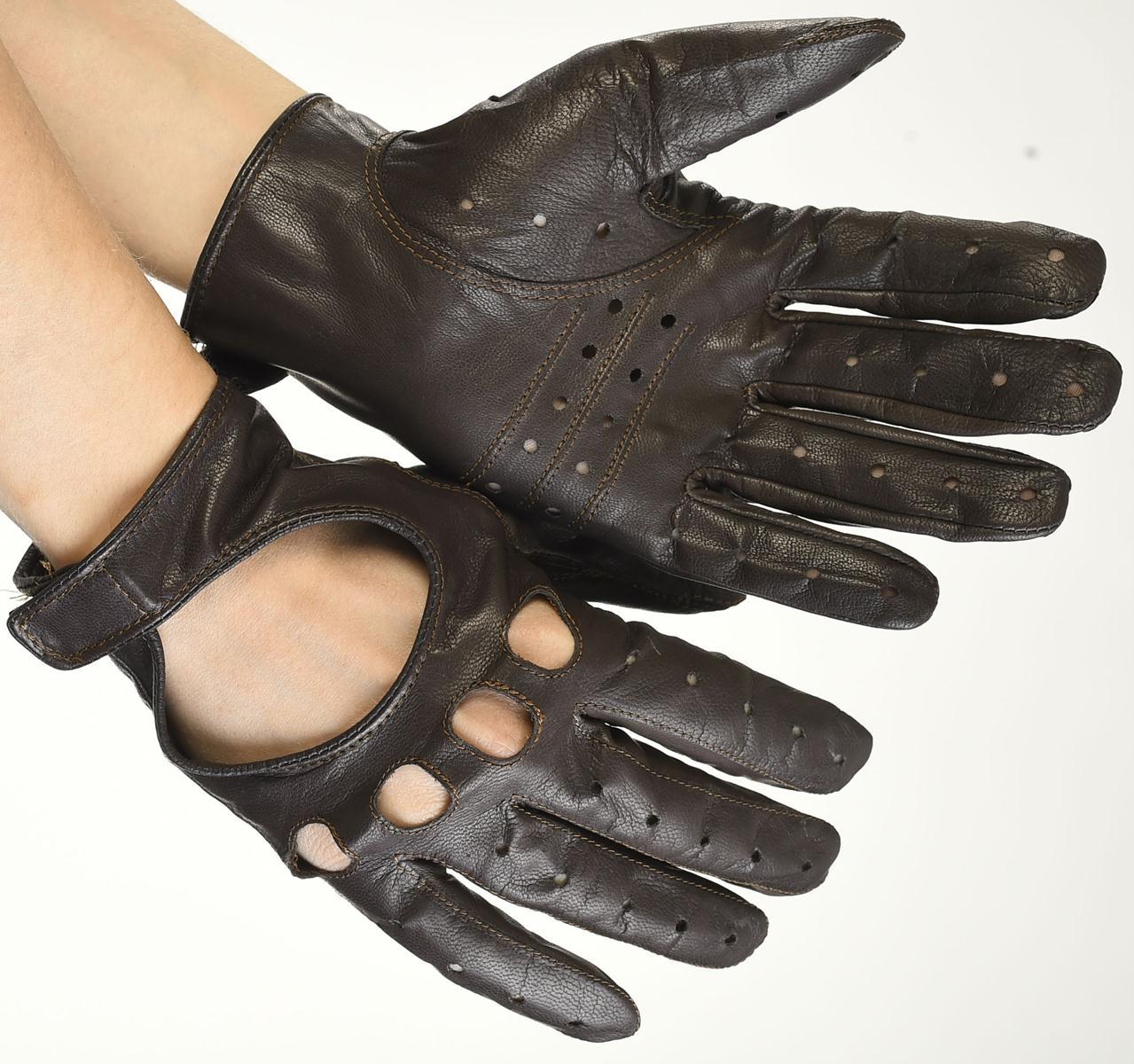 Mănuși din piele auto bărbați ABAuto1101