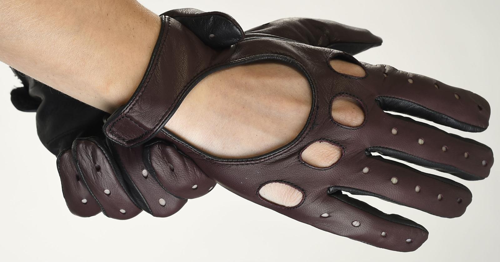 Mănuși din piele auto bărbați ABAuto2101