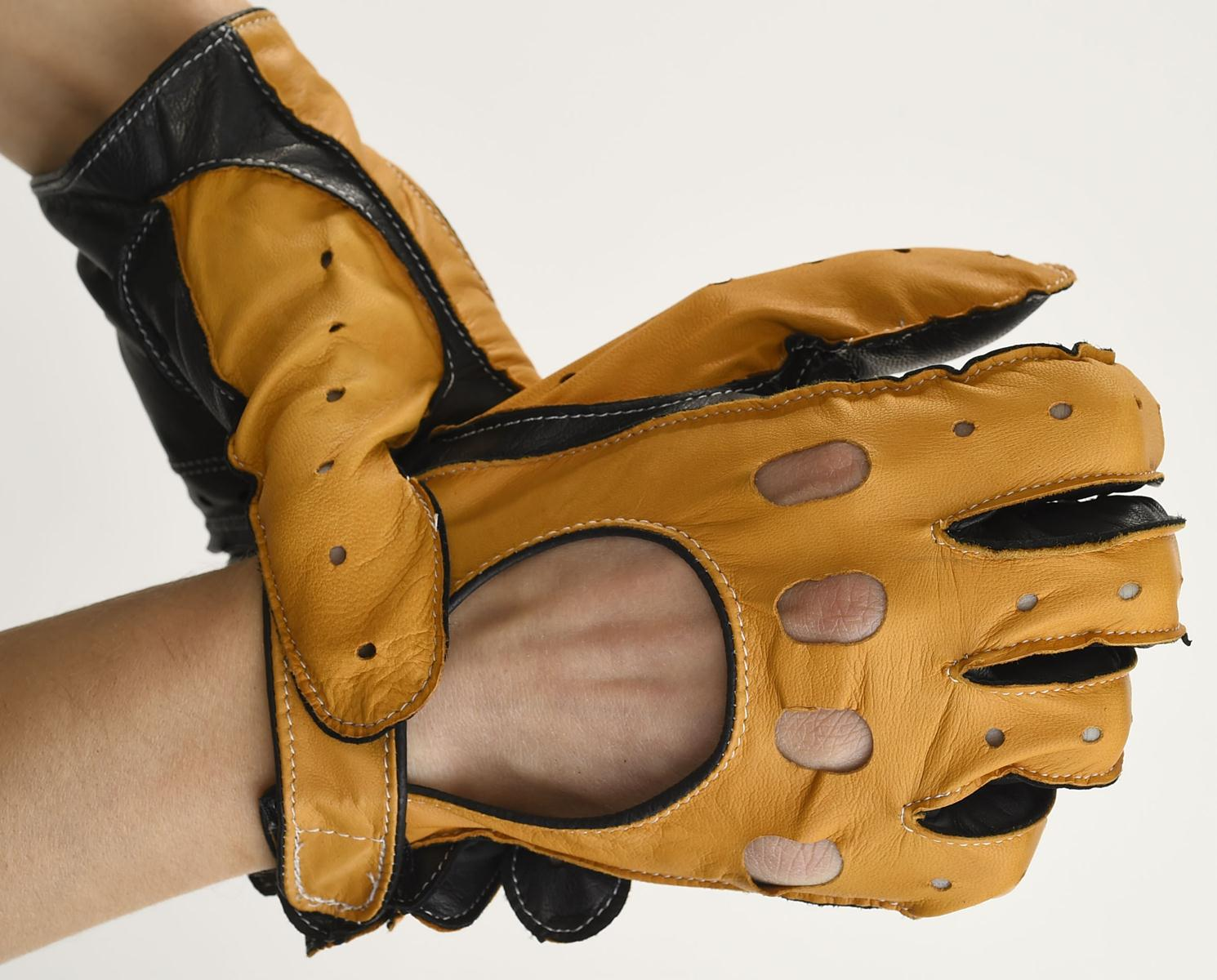 Mănuși din piele auto bărbați ABAuto401