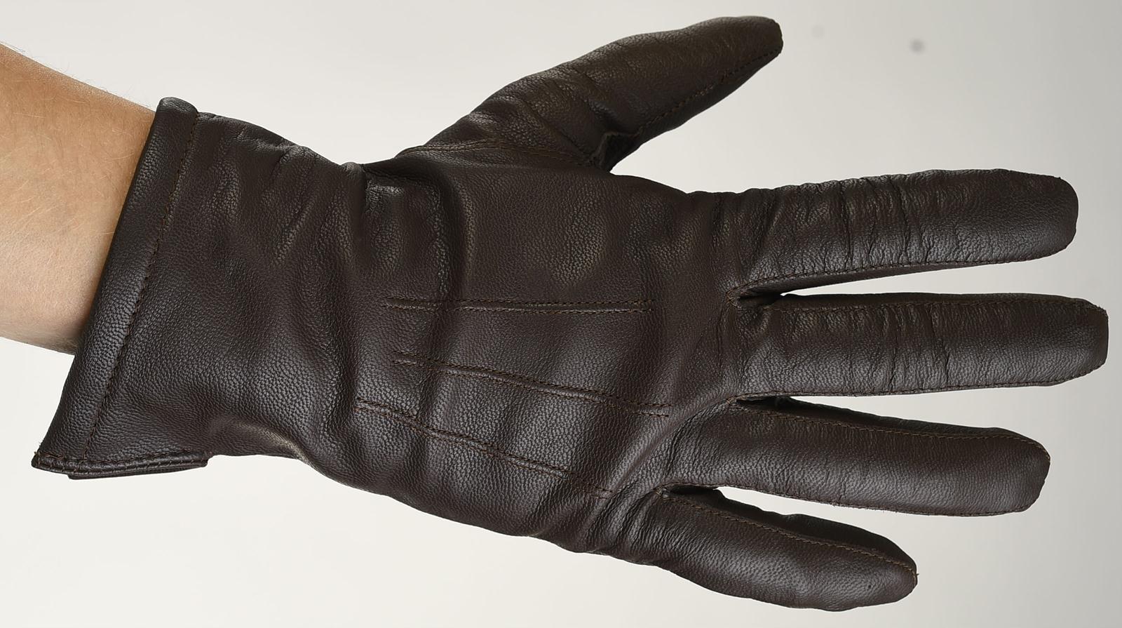 Mănuși din piele bărbați căptușit 1971ABB
