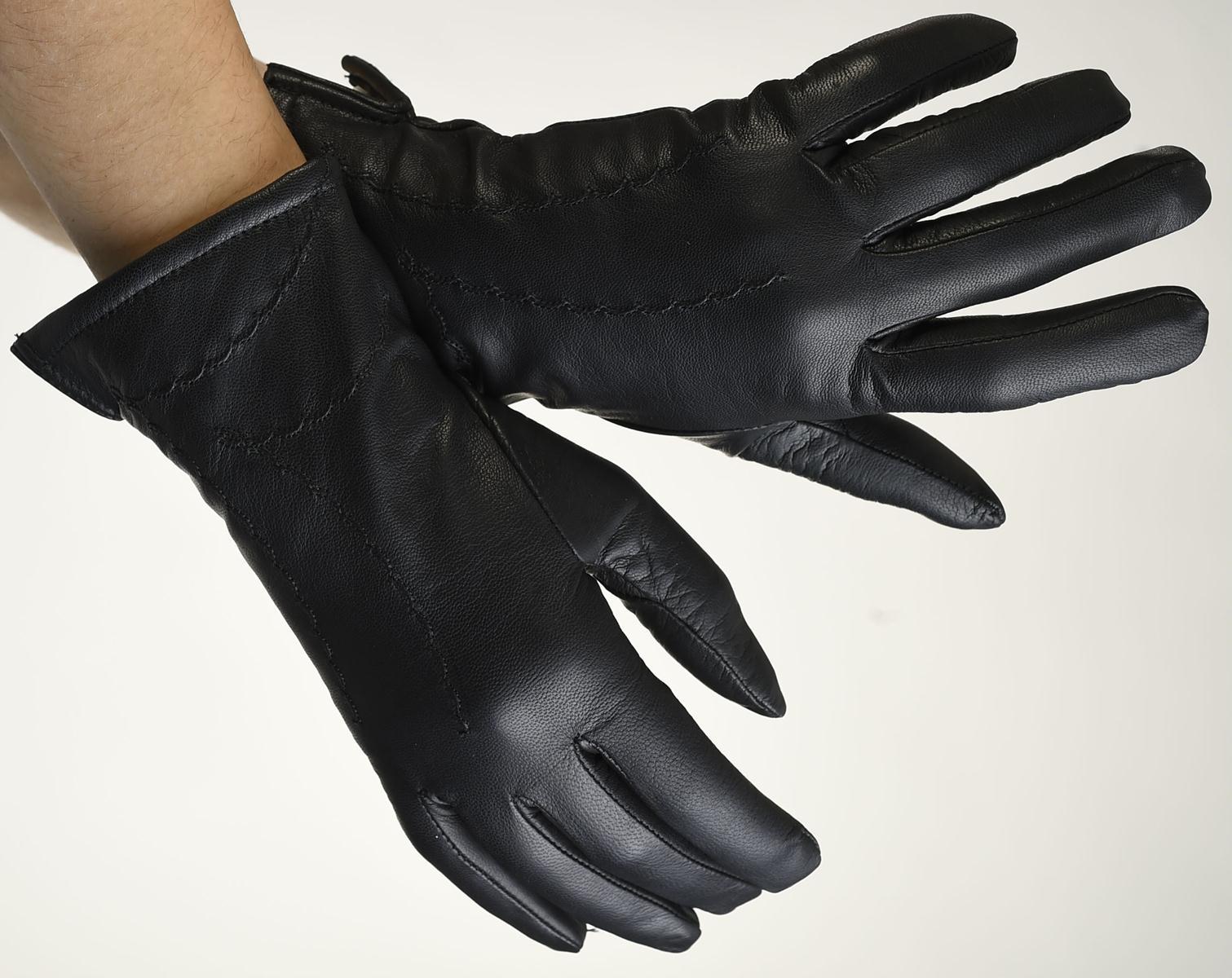 Mănuși din piele damă căptușit AF187FLA