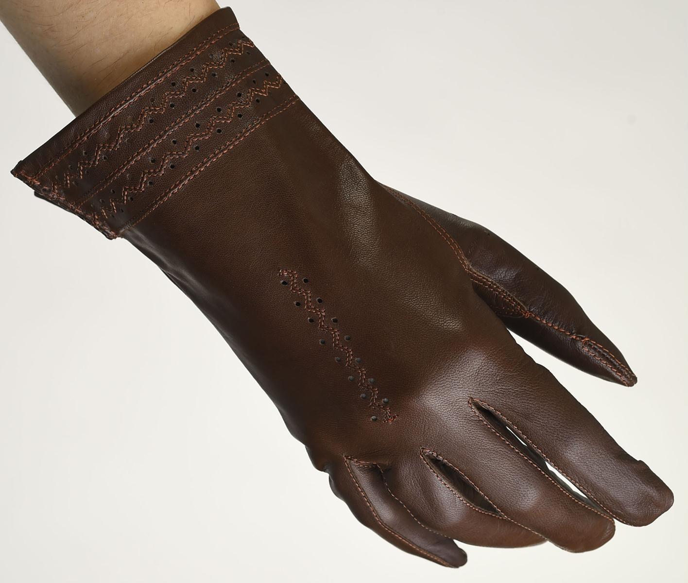 Mănuși din piele damă necăptușit AF181BEG