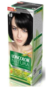 Vopsea de păr Natura 1.0 Negru Intens - Loncolor