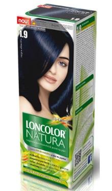 Vopsea de păr Natura 1.9 Negru Albastru - Loncolor