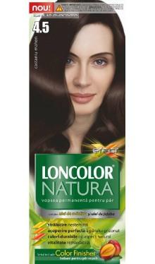 Vopsea de păr Natura 4.5 Castaniu Mahon - Loncolor
