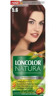 Vopsea de păr Natura 5.6 Castaniu Roșcat - Loncolor