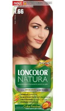 Vopsea de păr Natura 7.66 Roșu Intens - Loncolor
