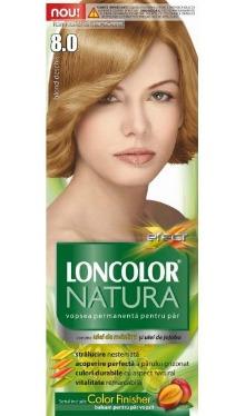 Vopsea de păr Natura 8.0 Blond Deschis - Loncolor