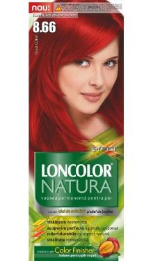 Vopsea de păr Natura 8.66 Roșu Coral - Loncolor