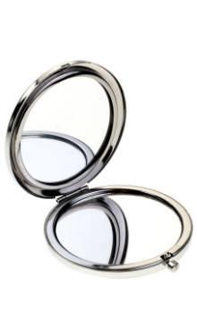 Oglindă de poşetă cu 2 feţe