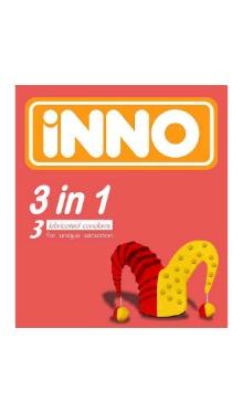 Prezervativ lubrifiat 3 în 1 - Inno